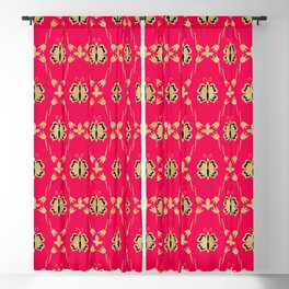 Red flutters Blackout Curtain