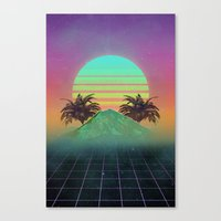 80s Canvas Prints featuring 80s love by Mikuloctopus
