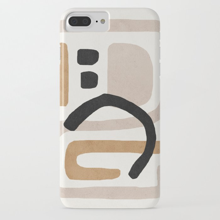 Abstract shapes art, Mid century modern art iPhone Case