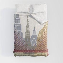 Copenhagen skyline poster Comforters