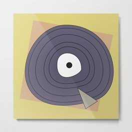 Abstract funny digital art of a vintage record Metal Print