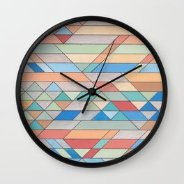 Triangle Pattern no.2 Colorful Wall Clock