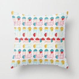 Retro 50's Jellyfish Throw Pillow