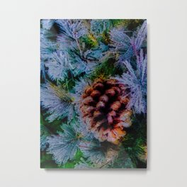 Vibrant Evergreen Christmas Metal Print