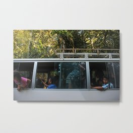 Bus Hooligans Metal Print