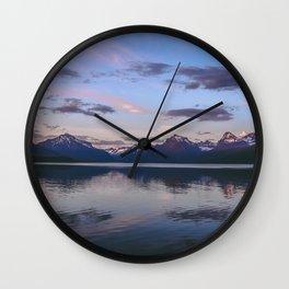 sunset at lake mcdonald Wall Clock
