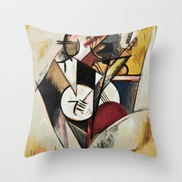 Study after Gleizes' Composition pour Jazz Throw Pillow