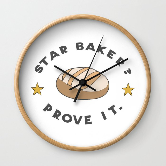 Star Baker? Prove It / Great British Baking Show Wall Clock