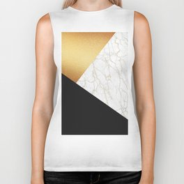 GOLDEN MARBLE TRIANGLE Biker Tank