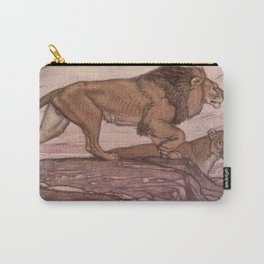 Vintage Lion Painting (1909) Carry-All Pouch
