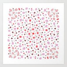 Dots pink Art Print