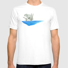 PIKA IN AN ISLAND Mens Fitted Tee MEDIUM White