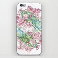 leah flores iPhone & iPod Skins featuring Flores by Barlena