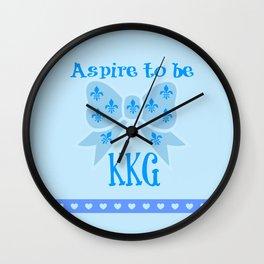 Aspire to be KKG Wall Clock