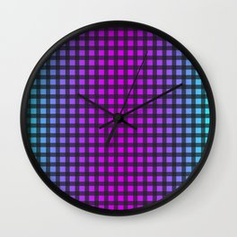 Colorful Gingham Wall Clock