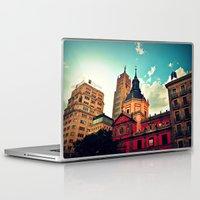 madrid Laptop & iPad Skins featuring Madrid Sky by Melanie Ann