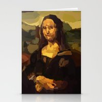mona lisa Stationery Cards featuring Mona Lisa by Robert Morris