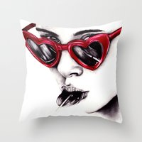 lolita Throw Pillows featuring Lolita  by Bella Harris