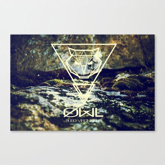 Geo-Owl Canvas Print