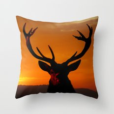 Highland Stag Throw Pillow