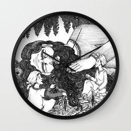 Stealing Giant's hair Wall Clock