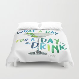 What a Day for a Day Drink – Blue & Green Palette Duvet Cover