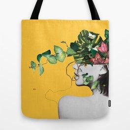 Lady Flowers Tote Bag