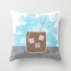 Iced Coffee Dreams Throw Pillow