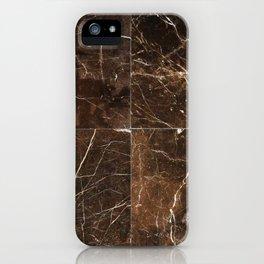 Brown Granite Squares iPhone Case
