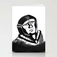 spaceman Stationery Cards featuring SpaceMan by Juicebox Farley