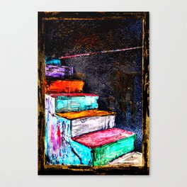 painted stairs Canvas Print