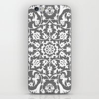 gray iPhone & iPod Skins featuring gray by MyMoonart