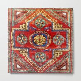 Incesu Turkish Village Antique Long Rug Metal Print