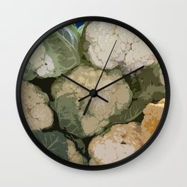 Colorful Cauliflower! Wall Clock