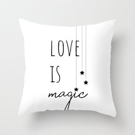 Love is Magic Throw Pillow