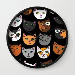 Kitty Cats Everywhere Wall Clock