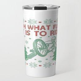 Cycling Christmas Travel Mug