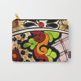 Beautiful Red and Green Talavera Carry-All Pouch