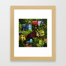 Corona Heights (colored) Framed Art Print
