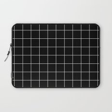 Black White Grid Laptop Sleeve