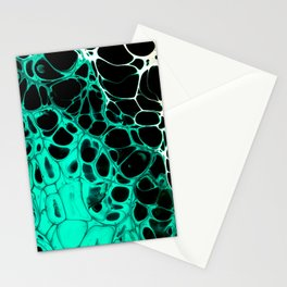 Teal Lacing Stationery Cards