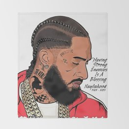 Nipsey Hussle red Throw Blanket