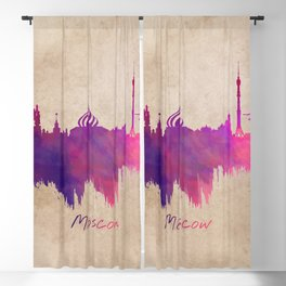 Skyline Moscow purple Blackout Curtain