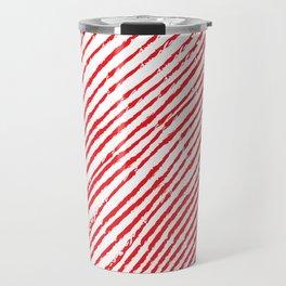 Candy Cane (The raw version) - Christmas Illustration Travel Mug
