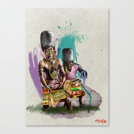 "African+British ""Tribal Celebration"" Canvas Print"