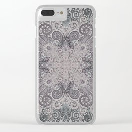 Vintage Ornate Watercolor Clear iPhone Case