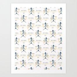 National Spaghetti Day Drying Rack Art Print