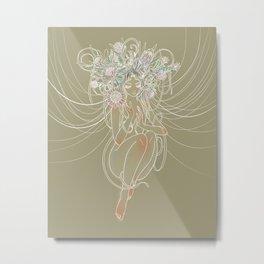 Flowergirl 01 - Protea Metal Print