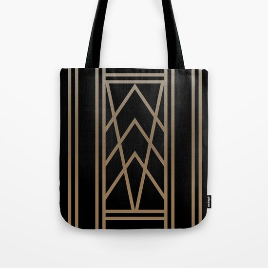 BLACK AND GOLD 2 (abstract art deco geometric) Tote Bag