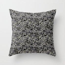 Pug Black Camouflage Throw Pillow